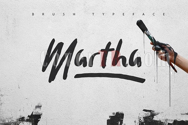 Martha Brush Typeface Font-1jpg