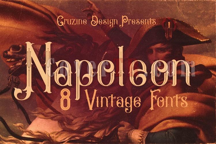 Napoleon Vintage Typeface Font-napoleon1-ojpg