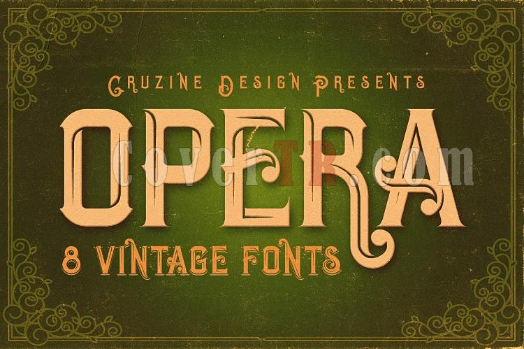 Opera Vintage Typeface Font-opera1-ojpg