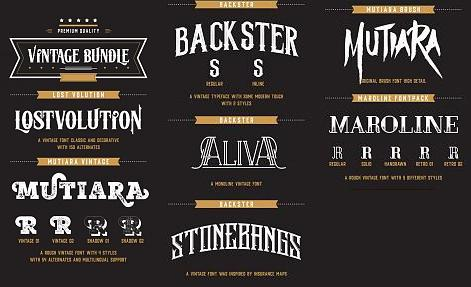Vintage Font Bundle-preview0jpg