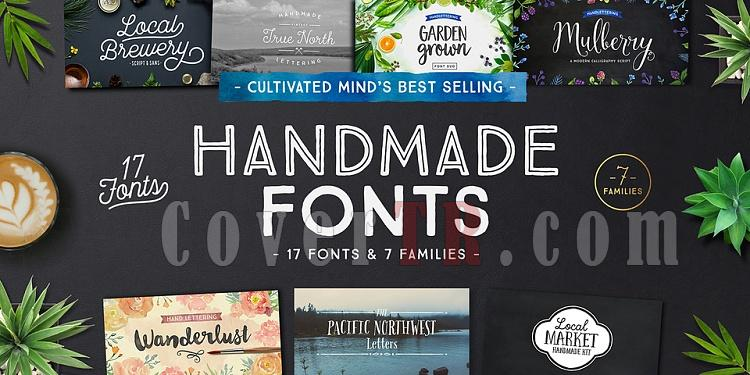 Cultivated Mind's Best Selling Handmade Fonts-218681jpg