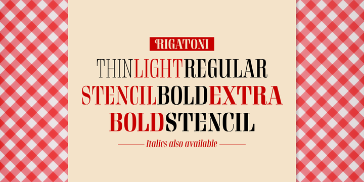 Rigatoni Font-233492jpg