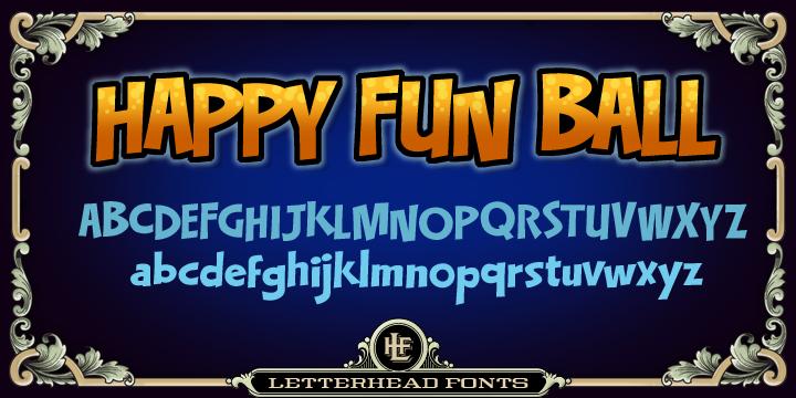 LHF Happy Fun Ball Font Family-55737jpg