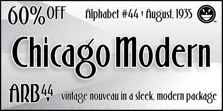 ARB 44 Chicago Modern Font-129260jpg