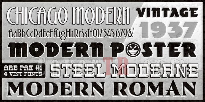 ARB 70 Modern Poster Font-24687jpg