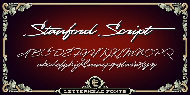 LHF Stanford Script Font-59117jpg