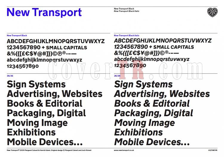 New Transport Font Family-specimenpagejpg