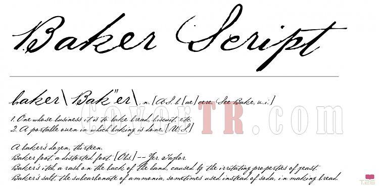 Baker Script (T-26) Font-84527jpg