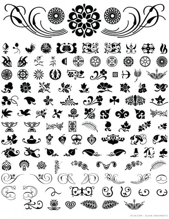 Alian Ornaments (T-26) Font-thumbnailjpg