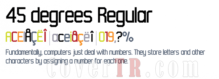 45 Degrees (Identikal Collection) Font-300490png