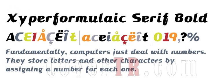 Xyperformulaic Serif [T-26] Font-278883png