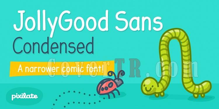 JollyGood Sans Condensed (Pixilate)-215198jpg