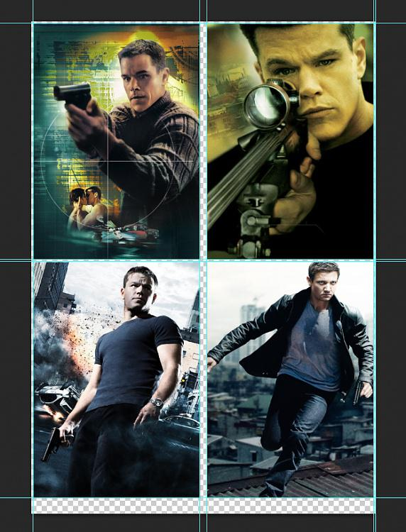 Cover &  Poster designs of the Jason Bourne Series-1jpg