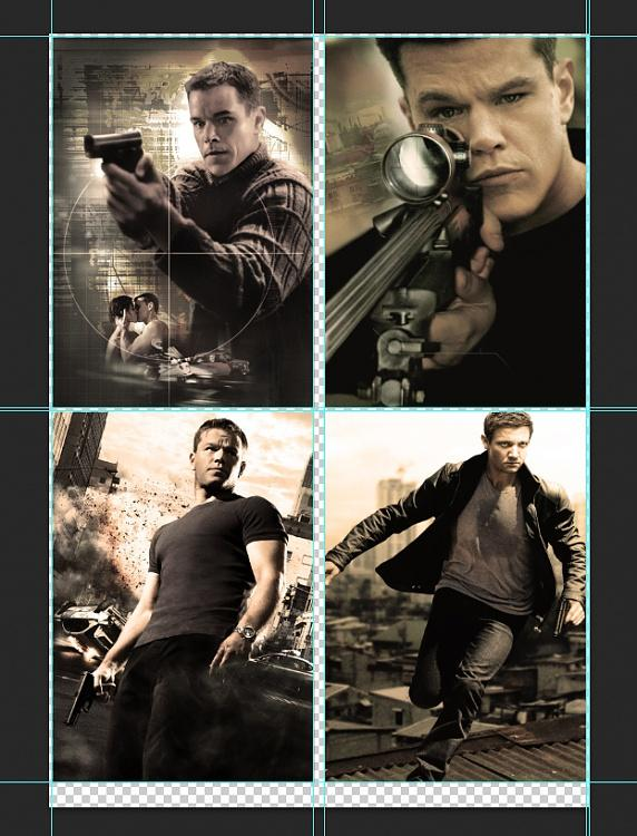Cover &  Poster designs of the Jason Bourne Series-2jpg