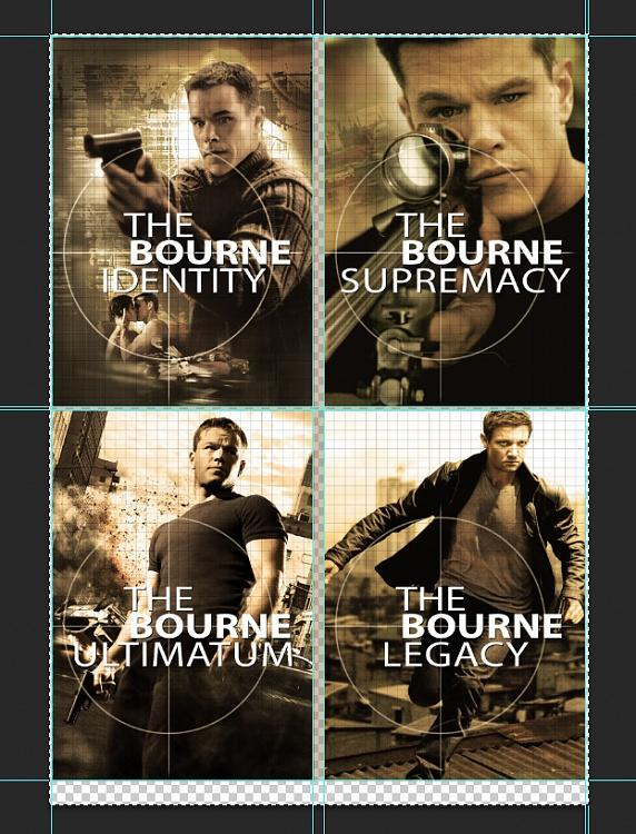Cover &  Poster designs of the Jason Bourne Series-6jpg