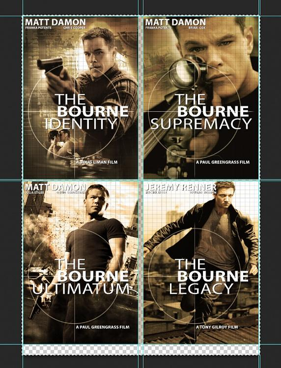 Cover &  Poster designs of the Jason Bourne Series-7jpg