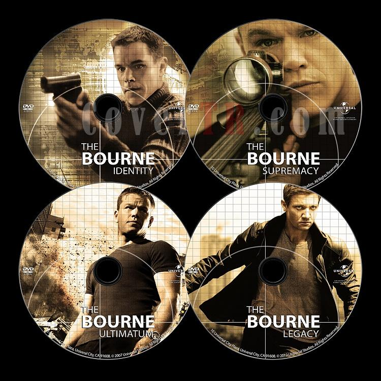 Cover &  Poster designs of the Jason Bourne Series-dvdjpg