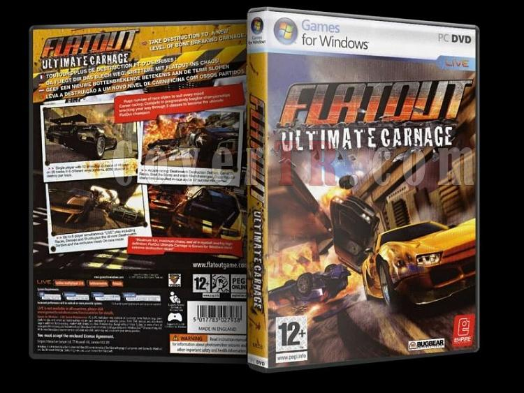 Flatout Ultimate Carnage Dvd Cover - PC-flatoutultimatecarnagejpg
