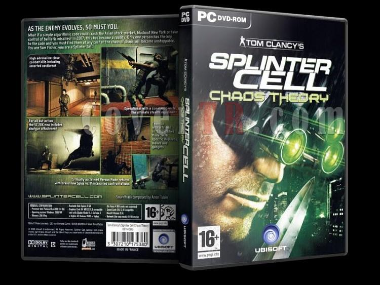 Tom Clancy's Splinter Cell Chaos Theory Dvd Cover - PC-scchaostheoryjpg