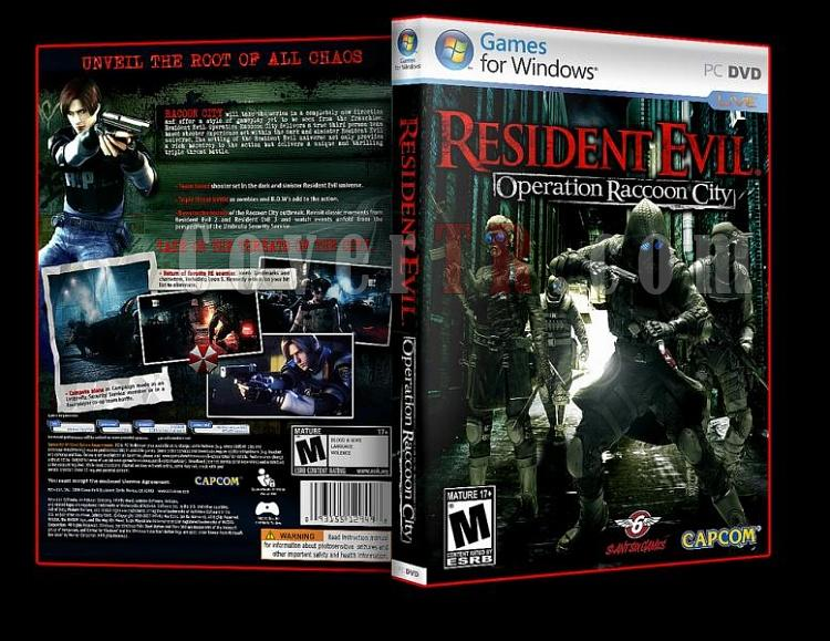 Resident Evil Operation Raccoon City - Pc Dvd Cover-ajpg