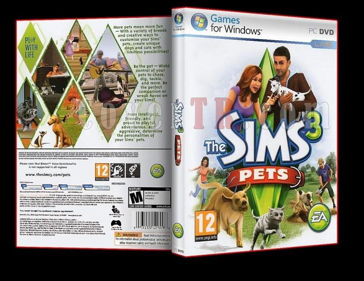 Sims 3 Pets - Pc Dvd Cover-ajpg