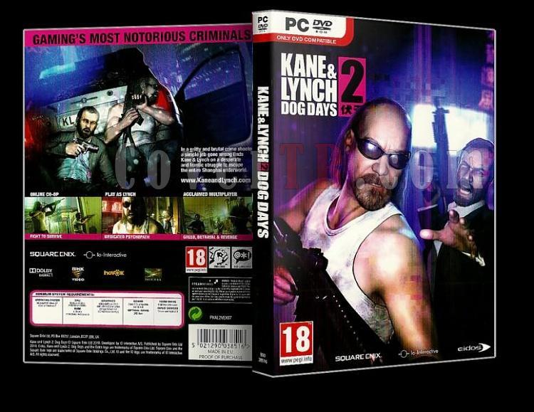 Kane & Lynch 2: Dog Days - Pc Dvd Cover (Orjinal)-k1jpg