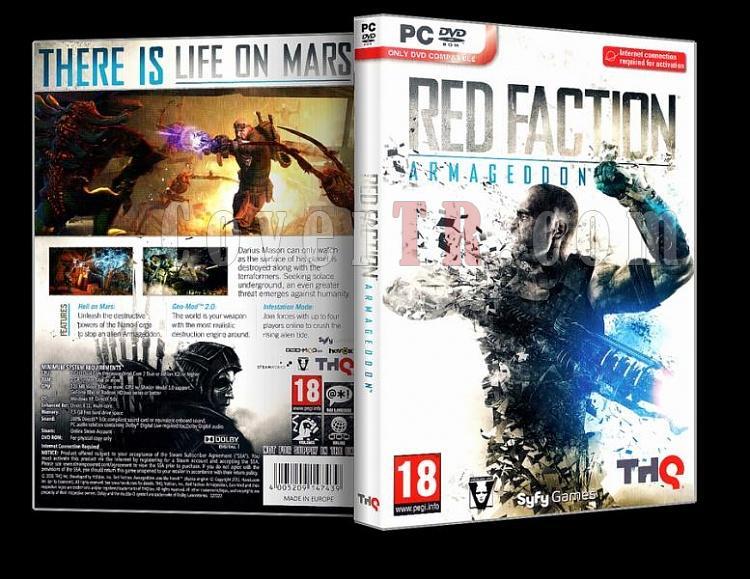 Red Faction Armageddon - Pc Cover (Orjinal)-redjpg