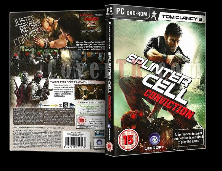 Splinter Cell Conviction - Pc Cover (Orjinal)-spjpg