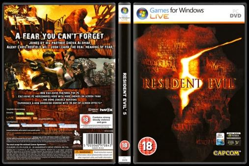Resident Evil 5 - Scan PC Cover - English [2009]-onizlemejpg