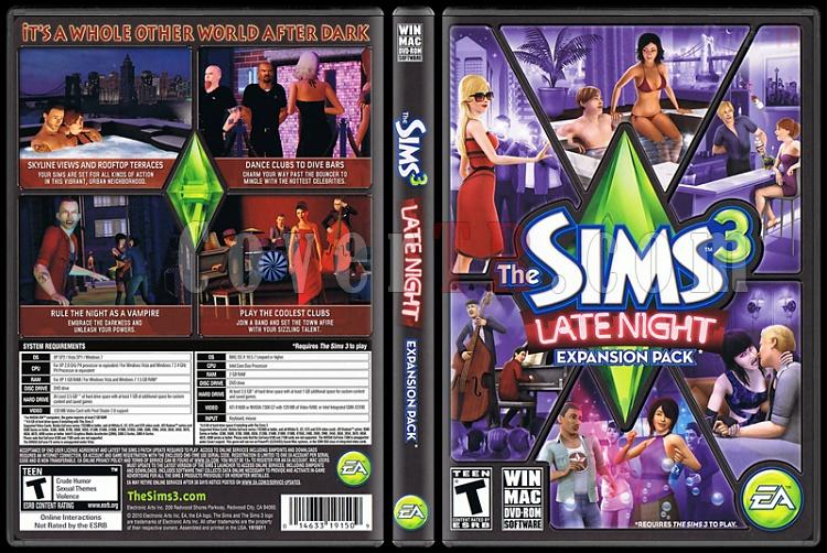 The Sims 3: Late Night - Scan PC Cover - English [2010]-standardjpg