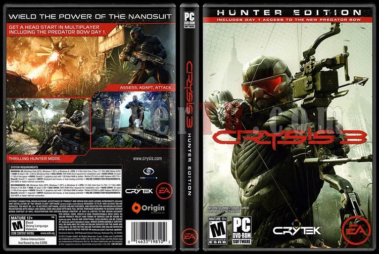 Crysis 3 (Hunter Edition) - Scan PC Cover - English [2013]-onizlemejpg