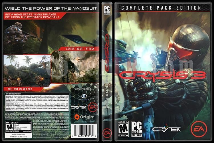 Crysis 3 (Complete Pack Edition) - Custom PC Cover - English [2013]-onizlemejpg