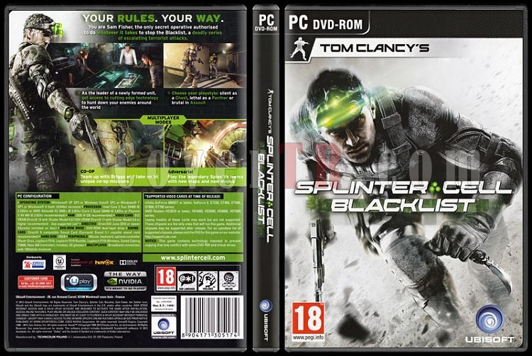 Tom Clancy's Splinter Cell: Blacklist - Scan PC Cover - English [2013]-onizlemejpg