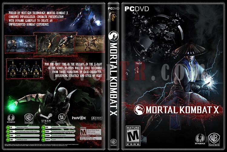 Mortal Kombat X - Custom PC Cover - English [2014]-onizlemejpg