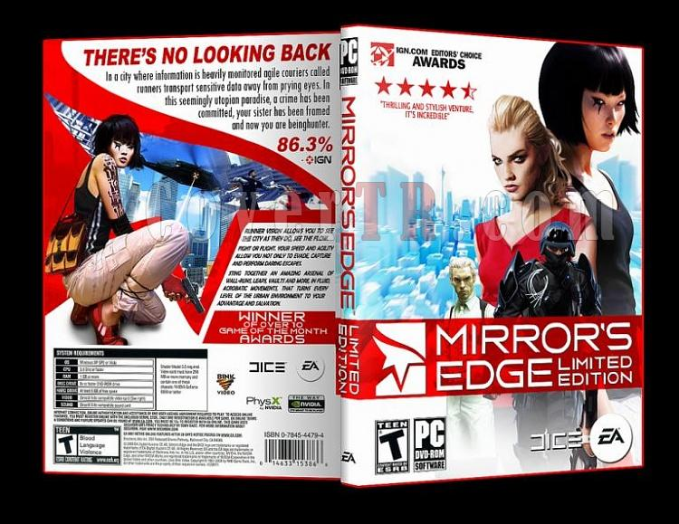 Mirror's Edge Limited Edition Pc Dvd Cover-4jpg
