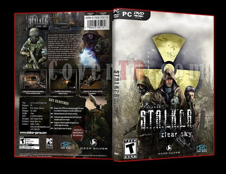 S.T.A.L.K.E.R Clear Sky Pc Dvd Cover-7jpg