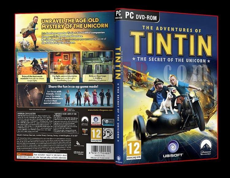 The Adventures of Tintin Secret of the Unicorn 2011 Pc Dvd Cover-ajpg