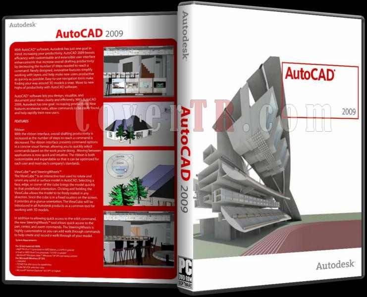 Autodesk AutoCAD 2009 - Custom Dvd Cover - English [2008]-autodesk_autocad_2009_dvd_coverjpg