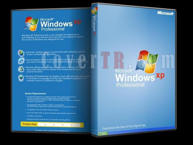 Microsoft Windows XP Professional - Custom Dvd Cover - English [2001