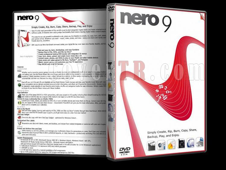 Nero 9 - Custom Dvd Cover - English [2009]-nero_9jpg