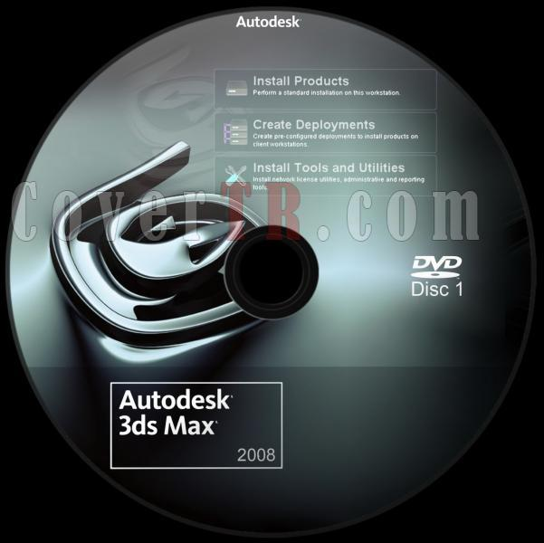 Autodesk 3ds Max 2008 - Custom Dvd Label - English [2007]-autodesk_3ds_max_2008_dvd_labeljpg