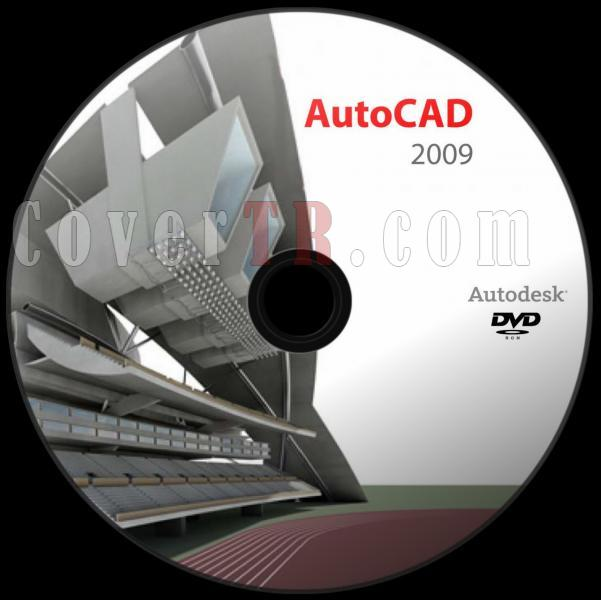 Autodesk AutoCAD 2009 - Custom Dvd Label - English [2008]-autodesk_autocad_2009_v2_dvd_labeljpg