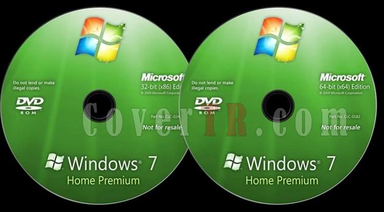 Microsoft Windows 7 Home Premium - Custom Dvd Label - English [2009]-windows-7-home-premium-dvd-labeljpg