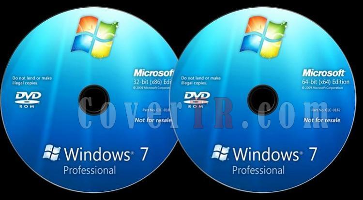 Microsoft Windows 7 Professional - Custom Dvd Label - English [2009]-windows-7-professional-dvd-labeljpg