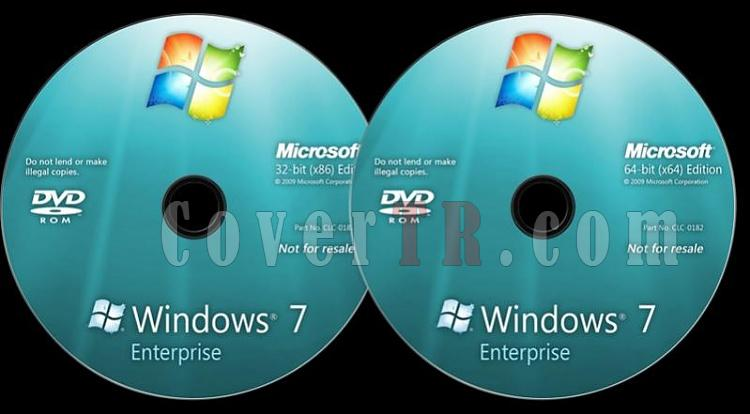 Microsoft Windows 7 Enterprise - Custom Dvd Label - English [2009]-windows-7-enterprise-dvd-labeljpg