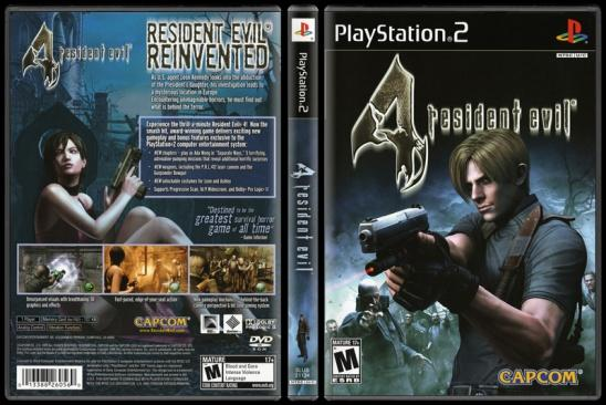 Resident Evil 4 - Scan PS2 Cover - English [2005]-onizlemejpg