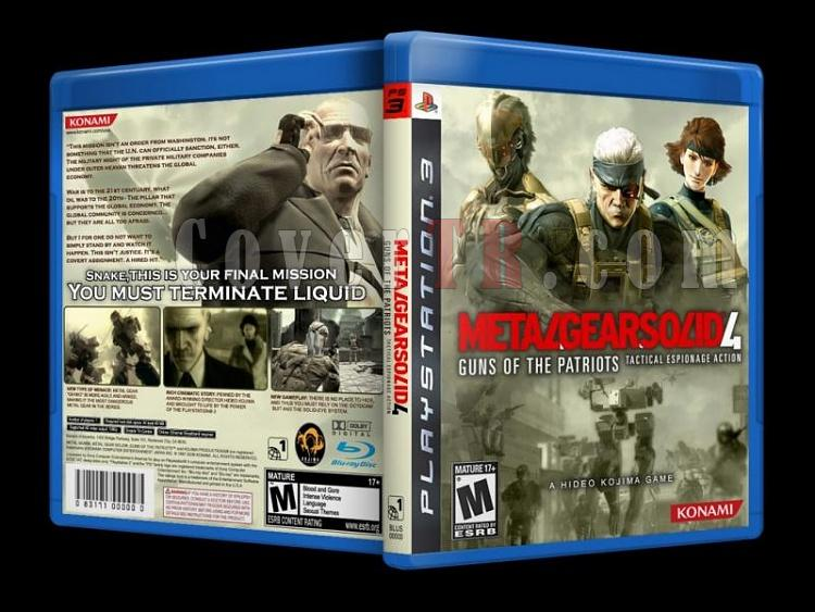 Metal Gear Solid  4 Guns Of The Patriots - Custom PS3 Cover - English [2008]-metal_gear-solid-4-guns-patriots-custom-ps3-cover-english-2008jpg