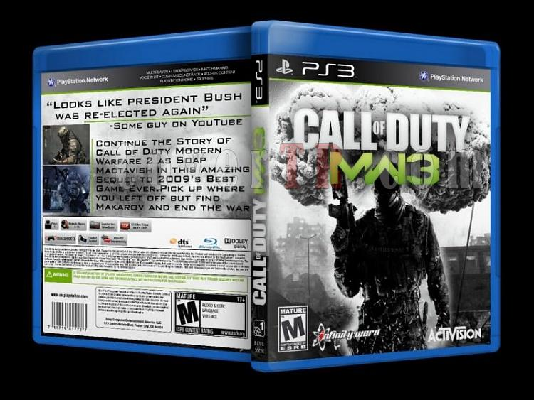 Call Of Duty Modern Warfare 3 Custom Ps3 Cover English 2011