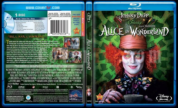 Alice in Wonderland (Alis Harikalar Diyarında) - Scan Bluray Cover - English [2010]-aiw-bluraycoverjpg