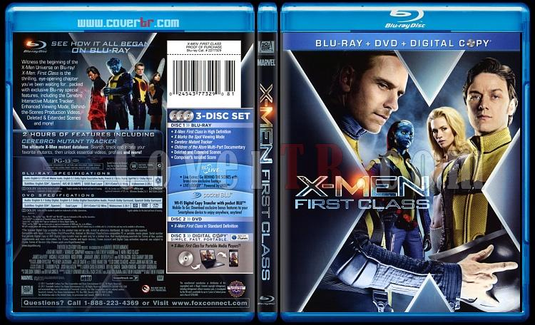 X-Men First Class (X-Men: Birinci Sınıf) - Scan Bluray Cover - English [2011]-xmenjpg